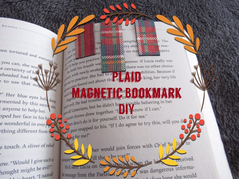 Diy the book of meghan plaid magnetic bookmark diy solutioingenieria Image collections